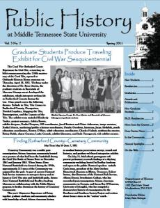 Public History Newsletter, Spring 2011