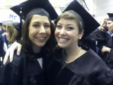 The Drs Katie before graduation; O'Bryan on the left, and me on the right.