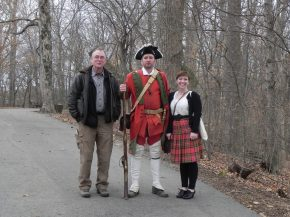 Talk at Fort Loudoun with my good buddy Charlie, and a Red Coat