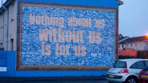 Important for ALL historians to remember. Mural in Belfast.