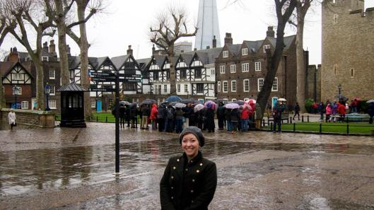 At the Tower of London, near the scaffold memorial, December 31, 2013