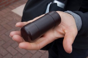 "A ""non-lethal"" rubber bullet; at least 17 people were killed by these during the Troubles (or after, from the effects)"
