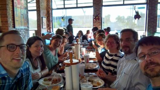 Wild and Crazy AASLH Regional Reps at dinner