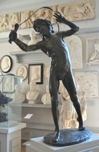 Statue of a Luperci with his whip. Whipping it good.