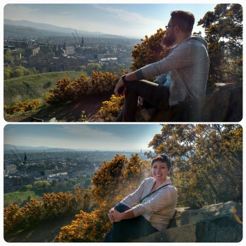 On Arthur's Seat, looking over Auld Reekie