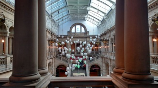 Floaty heads at the Kelvingrove!