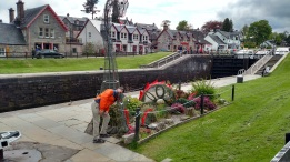 Charles and Nessie in Fort Augustus